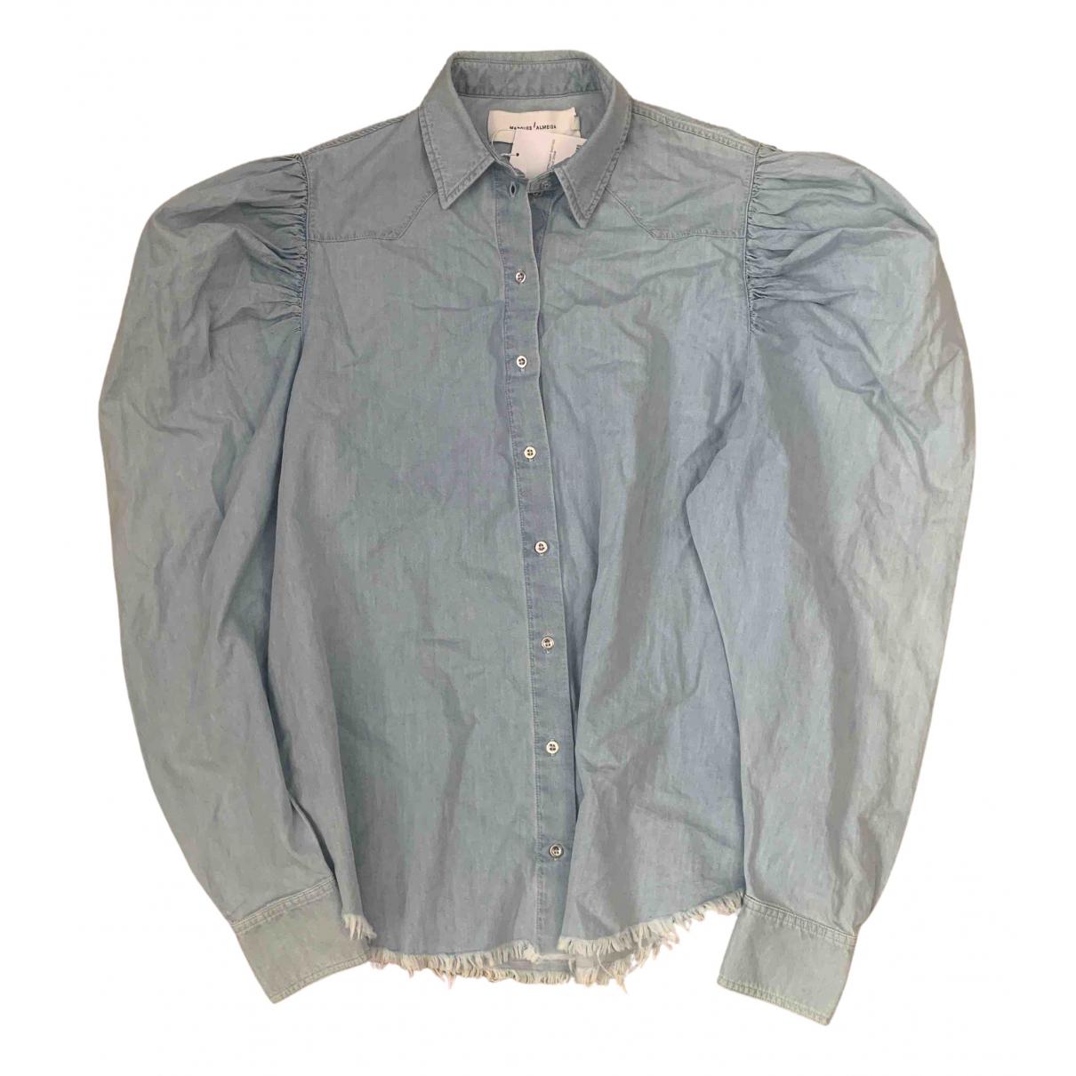 Marques Almeida - Top   pour femme en coton - bleu