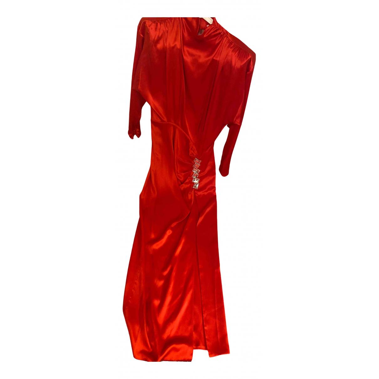 Alessandra Rich - Robe   pour femme en soie - rouge