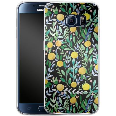 Samsung Galaxy S6 Silikon Handyhuelle - Bright Blossoms von Iisa Monttinen