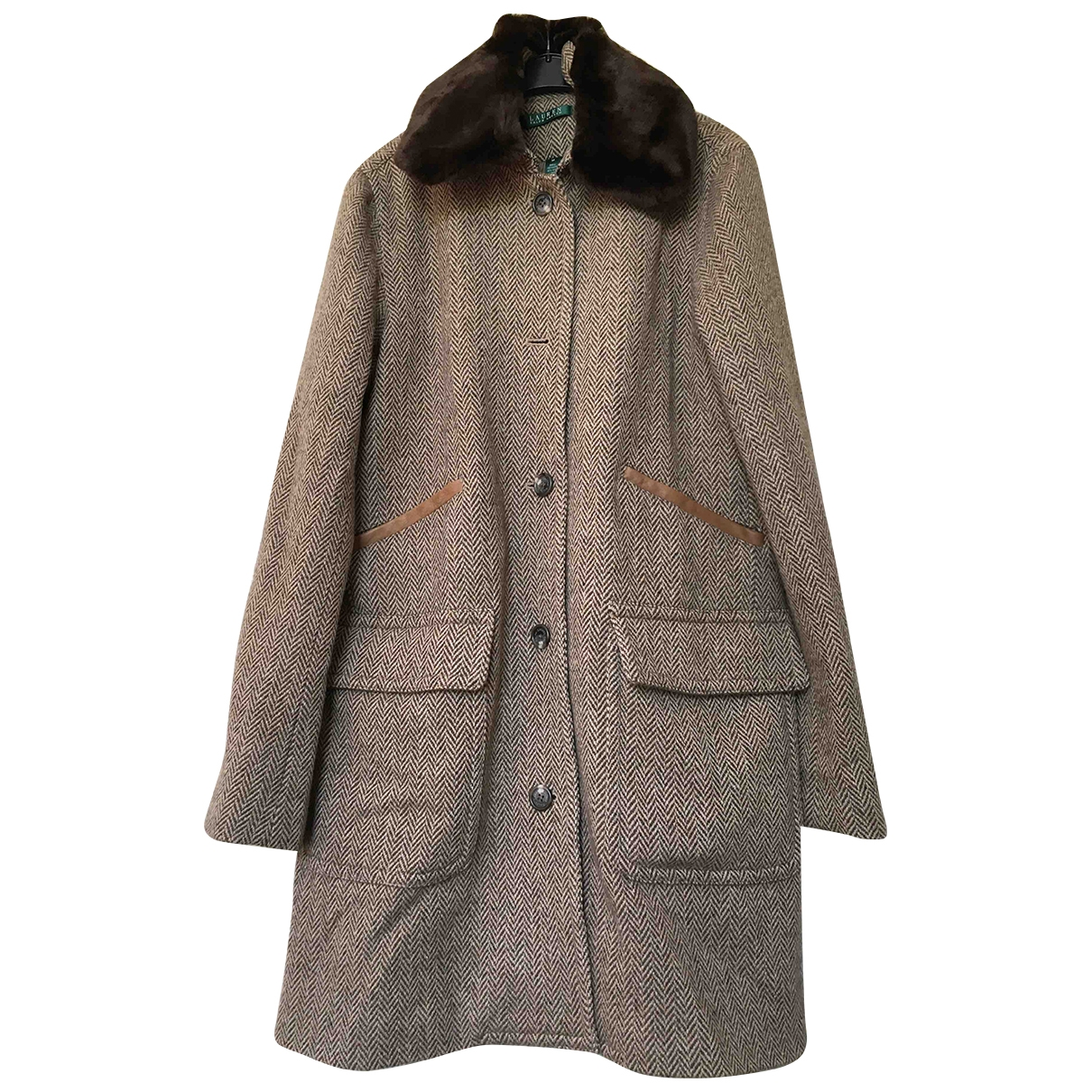Lauren Ralph Lauren \N Brown Wool coat for Women M International