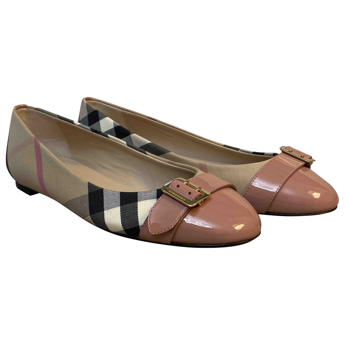 Burberry \N Multicolour Cloth Ballet flats for Women 37.5 EU