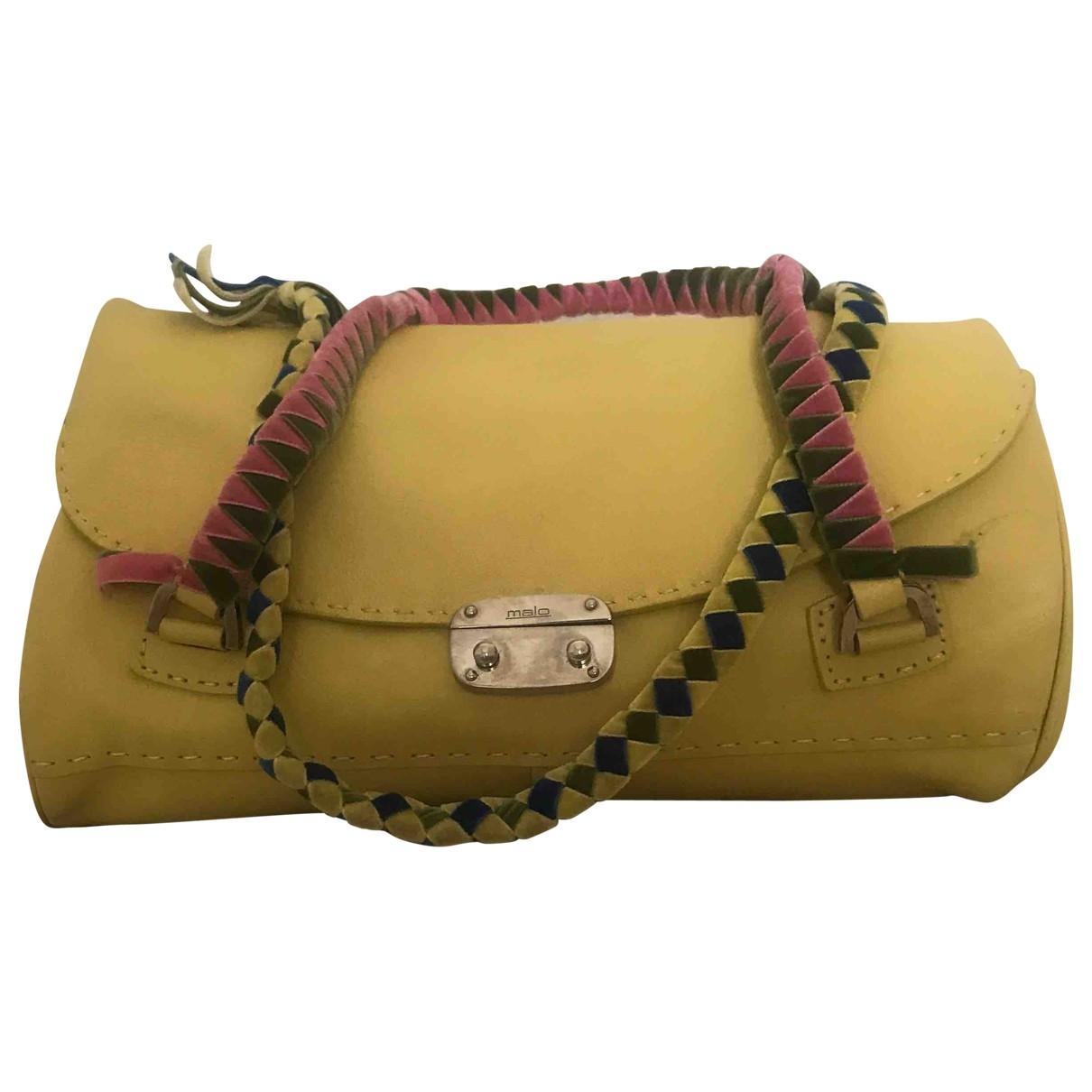 Malo \N Handtasche in  Gelb Leder