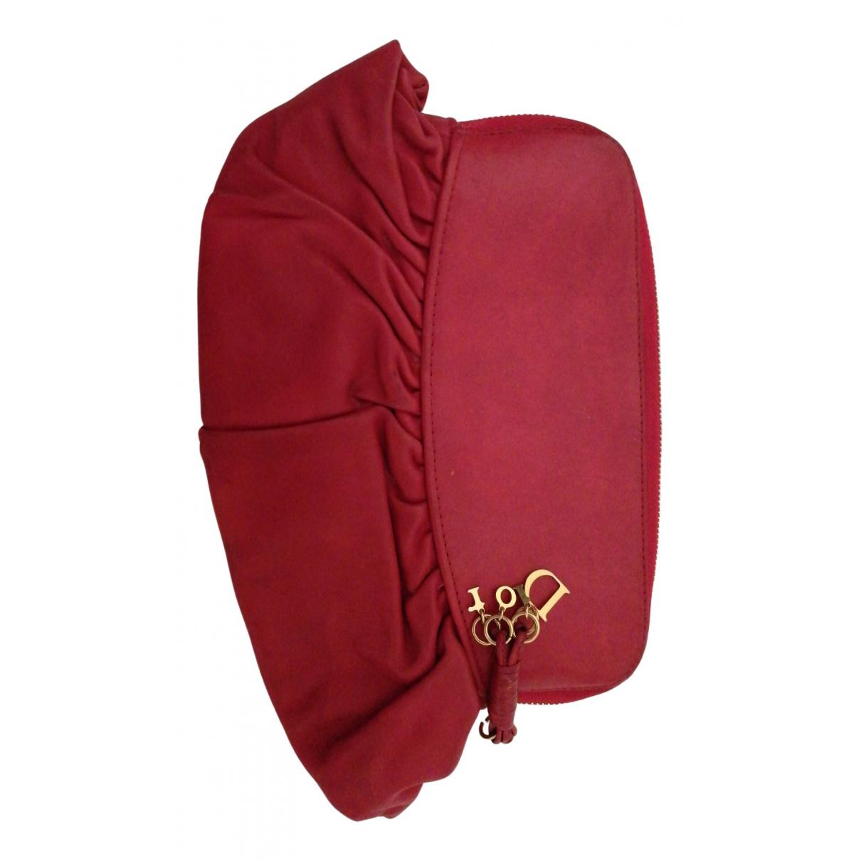 Dior - Pochette   pour femme en cuir - rouge