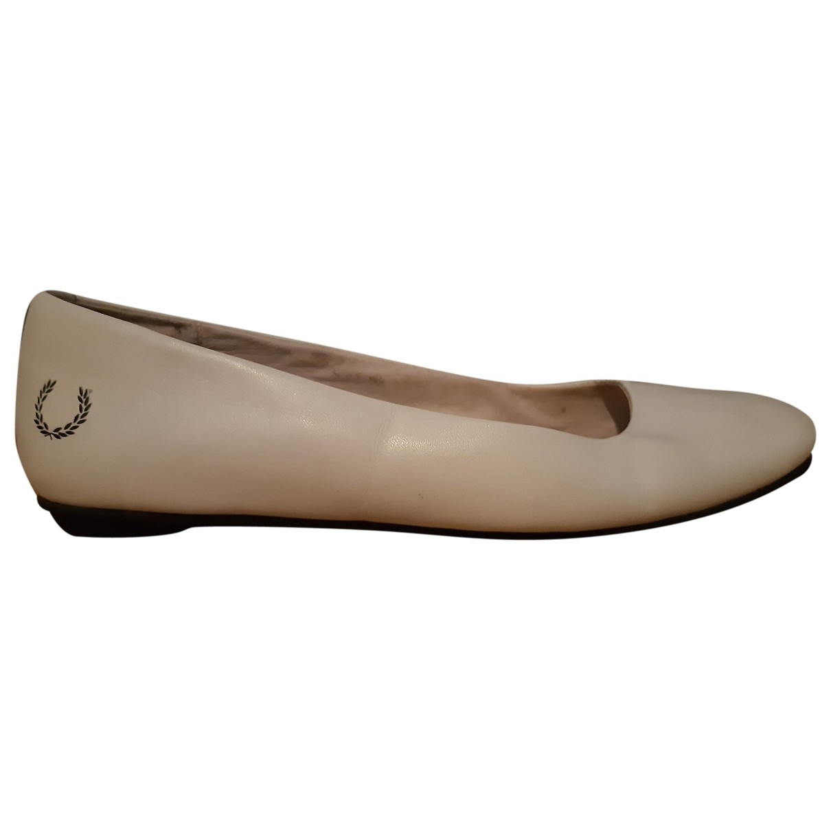 Fred Perry \N Ecru Leather Ballet flats for Women 37 EU