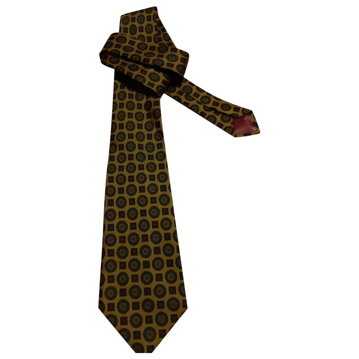 Balenciaga - Cravates   pour homme en soie - camel