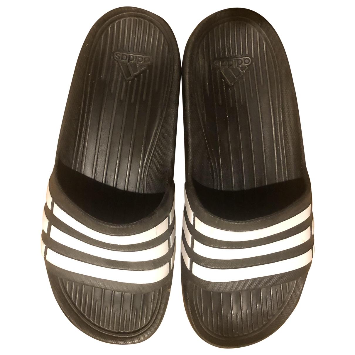 Adidas Adilette  Black Rubber Sandals for Women 39 EU