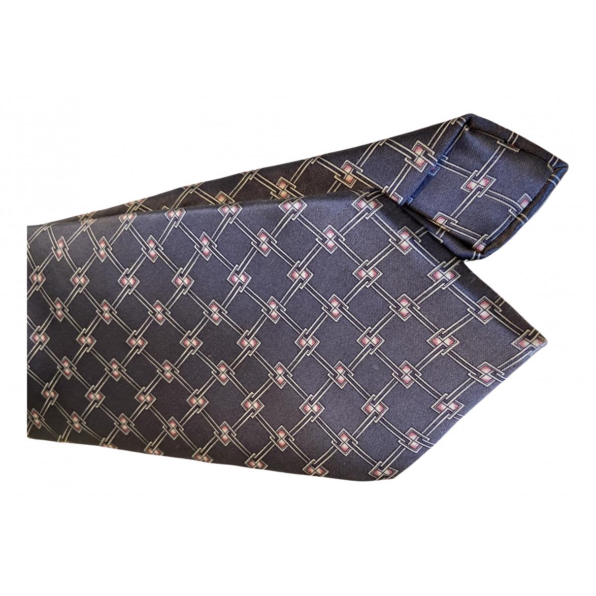Zilli - Cravates   pour homme en soie - gris