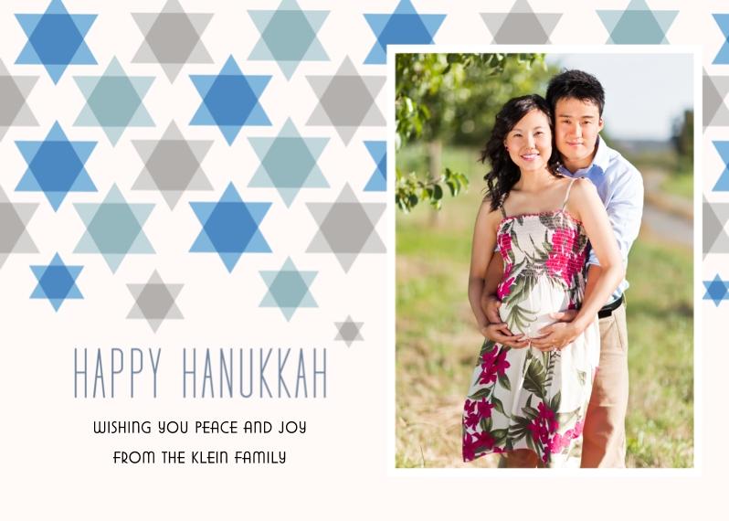 Hanukkah Photo Cards 5x7 Cards, Standard Cardstock 85lb, Card & Stationery -Star Pattern Hanukkah