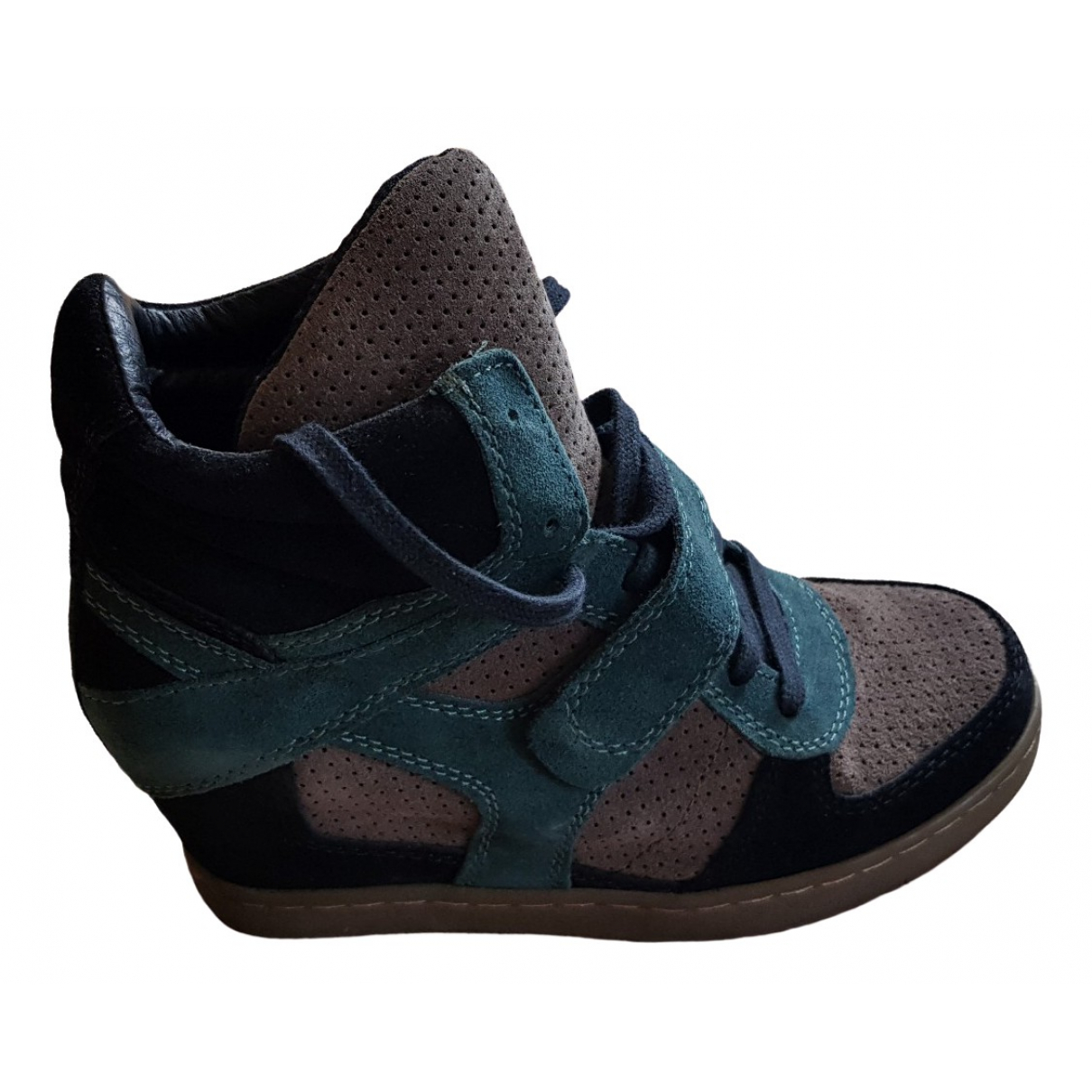 Ash \N Green Suede Trainers for Women 40 IT