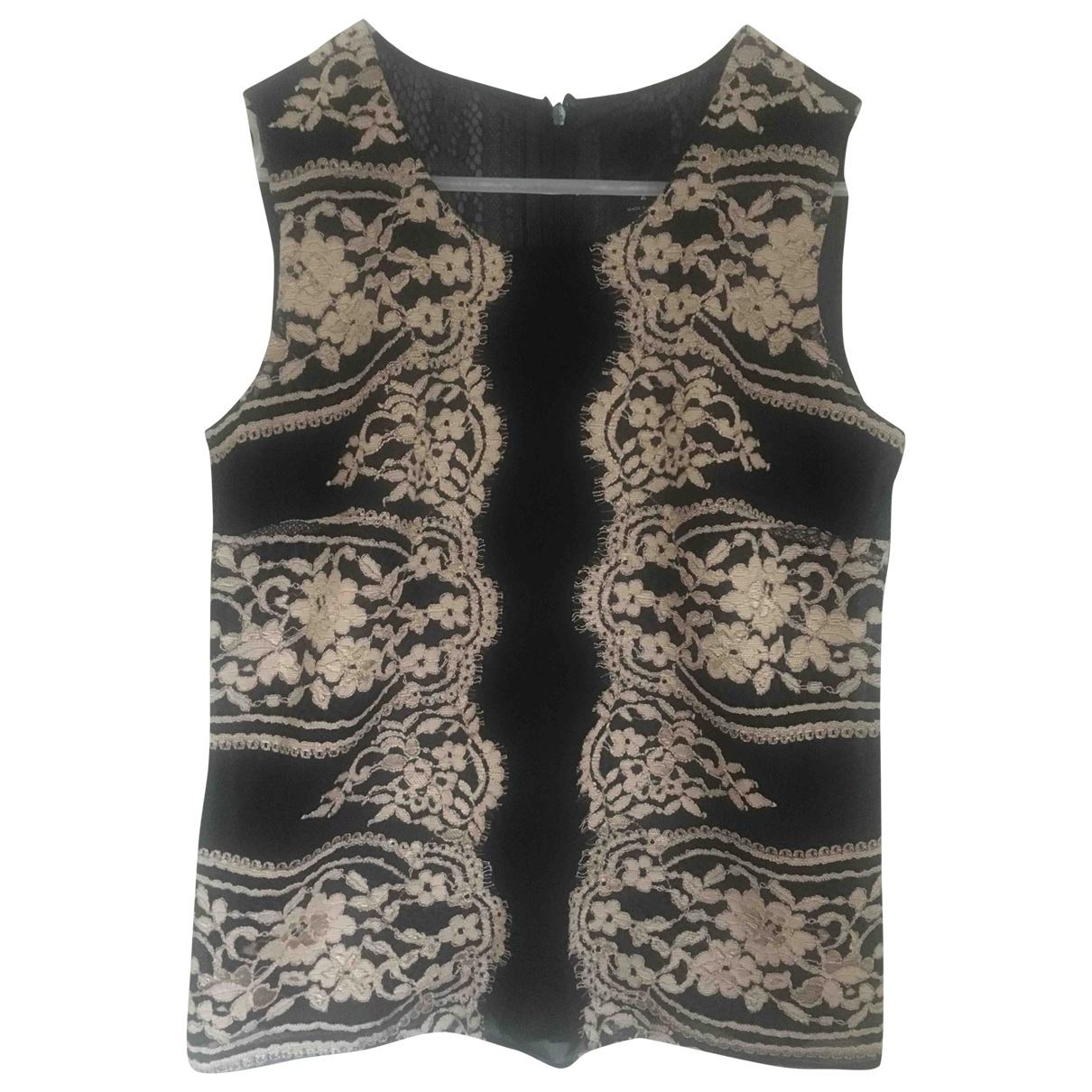 Anna Sui - Top   pour femme en soie - noir