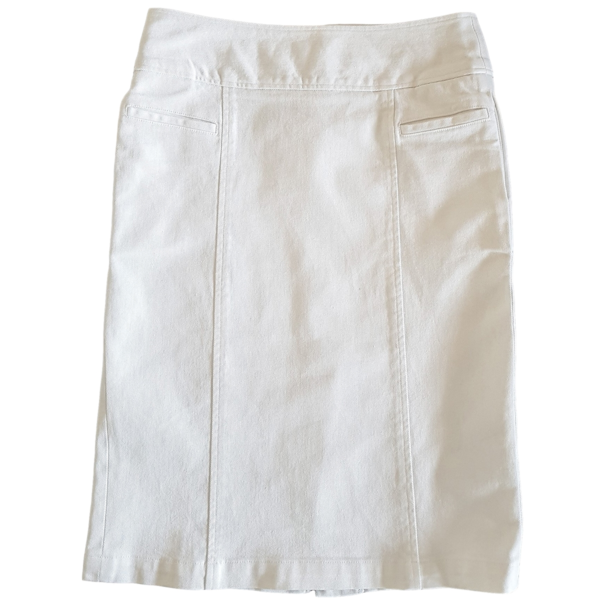 Freda \N White Cotton - elasthane skirt for Women 8 US