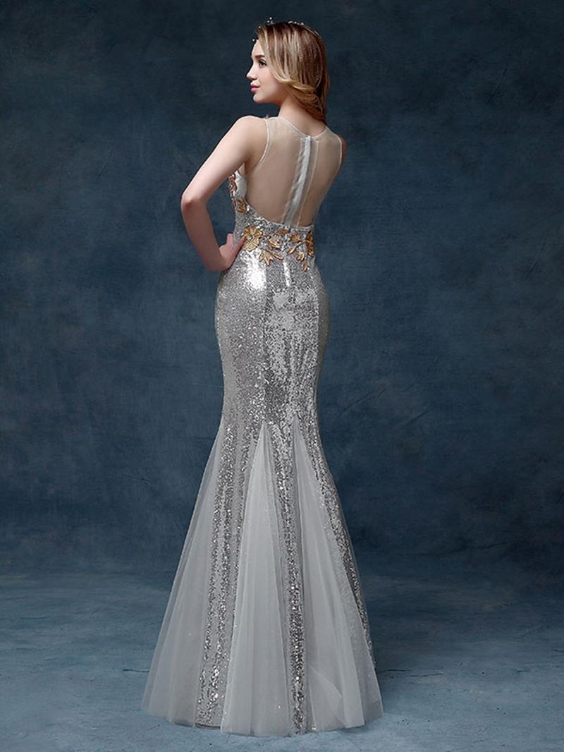 Ericdress Crystal Sleeveless Mermaid Prom Dress