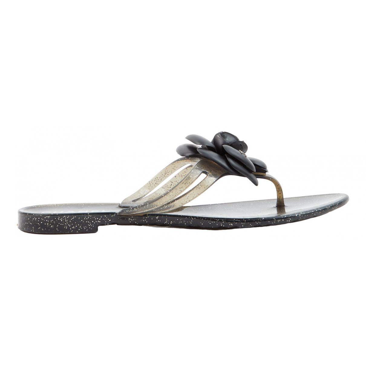 Chanel - Sandales   pour femme - noir