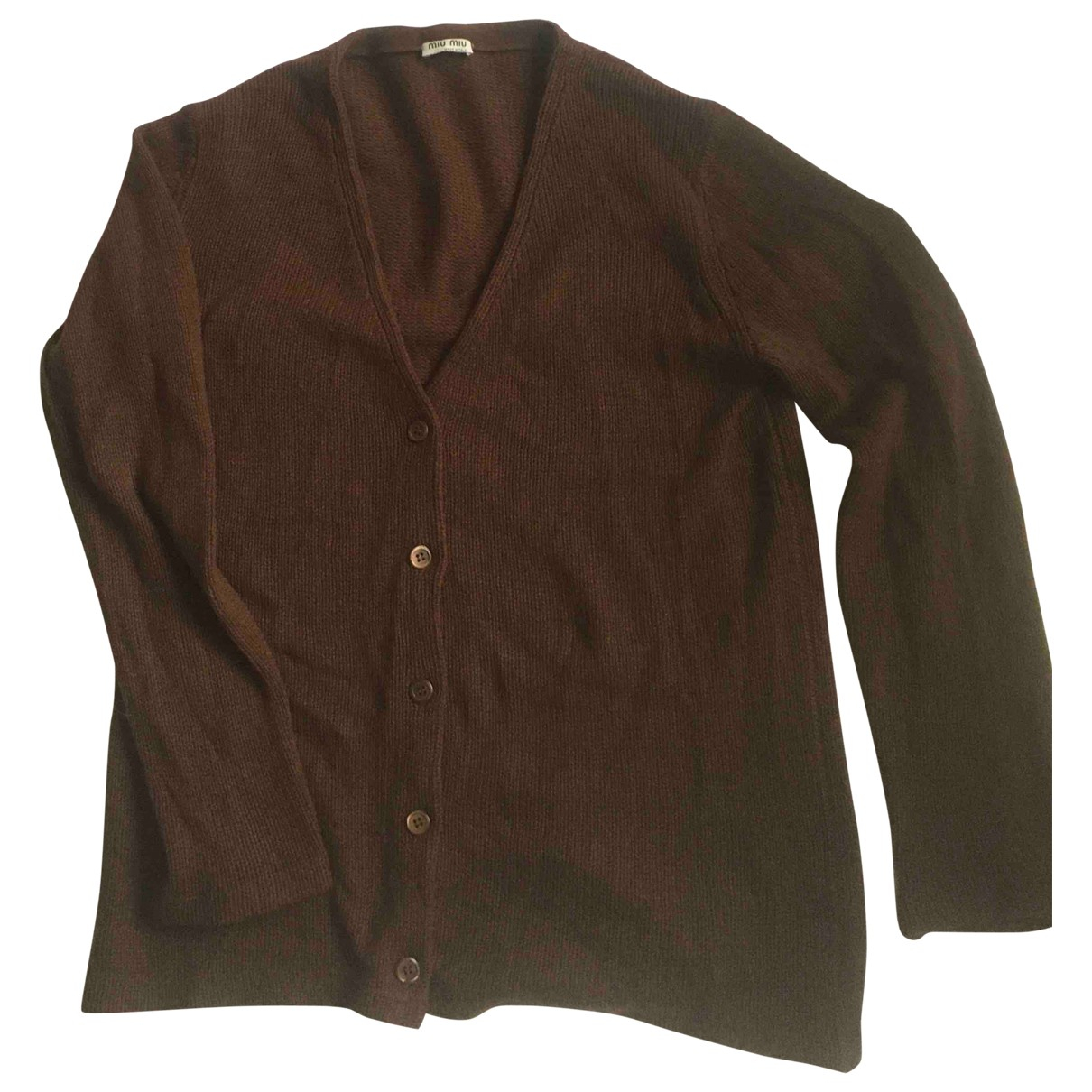 Miu Miu N Brown Cashmere Knitwear for Women 44 IT
