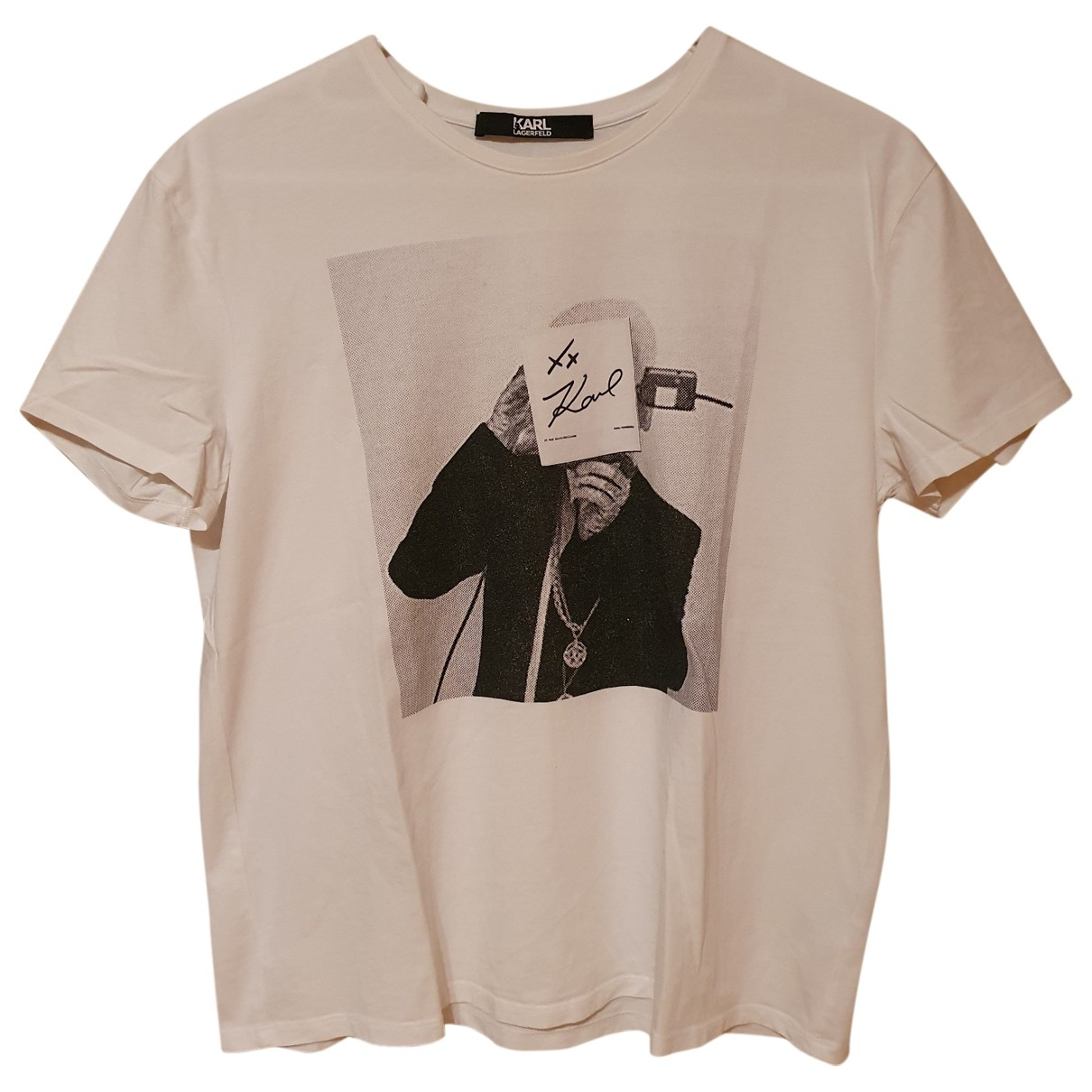 Karl Lagerfeld \N White Cotton  top for Women 36 FR