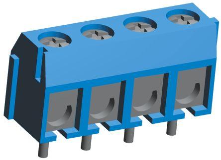 TE Connectivity , Buchanan 5mm Pitch, 4 Way PCB Terminal Strip, Blue