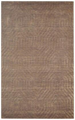 TECTC857900120810 Technique TC8579-8' x 10' Hand-Loomed 100% Wool Rug in Brown  Rectangle