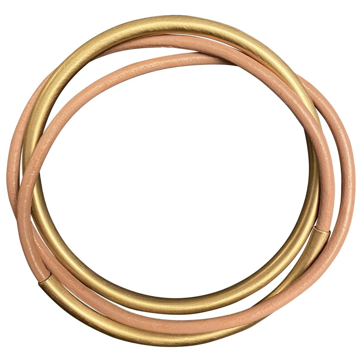 Cos \N Pink Leather bracelet for Women \N