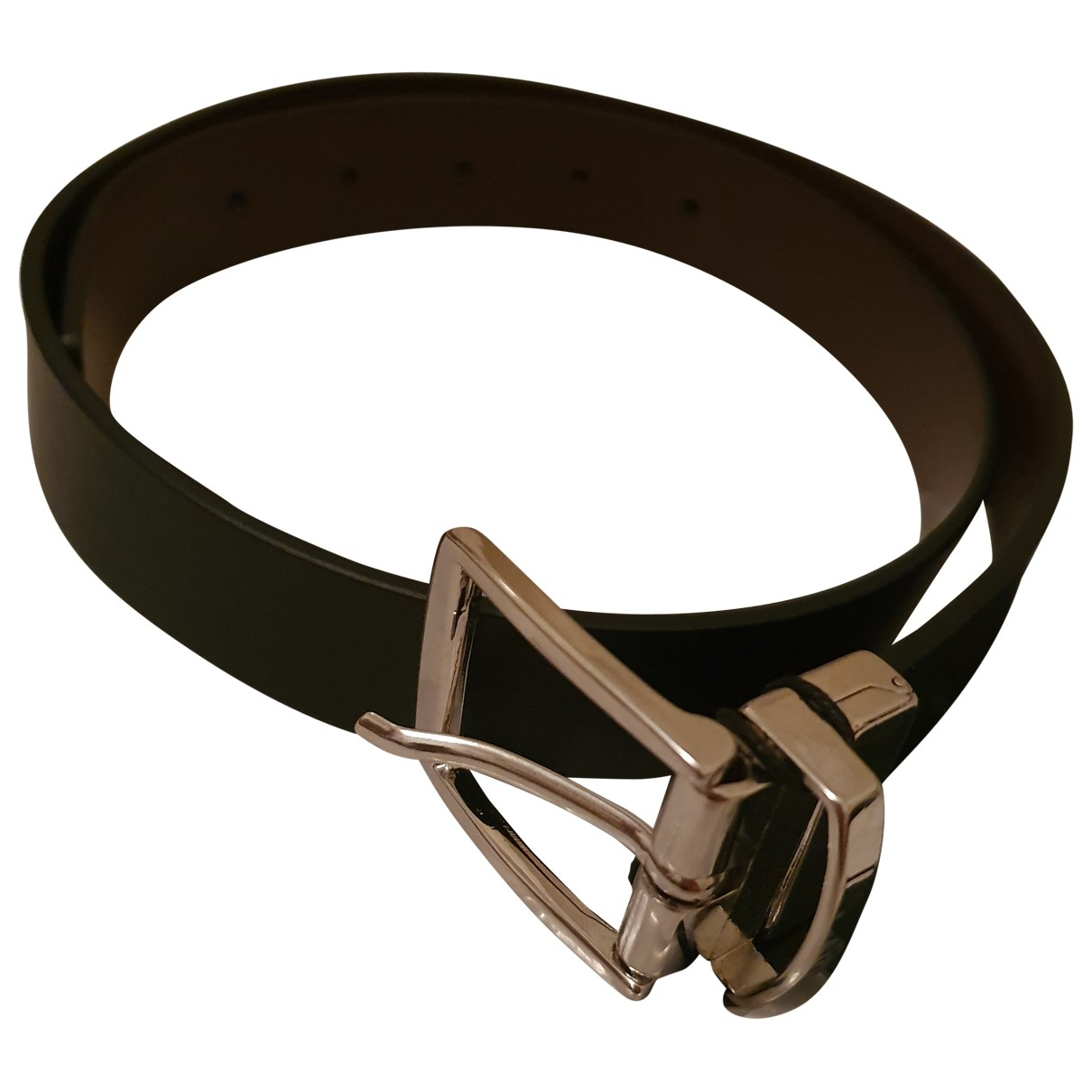 Emporio Armani \N Black Leather belt.Suspenders for Kids \N