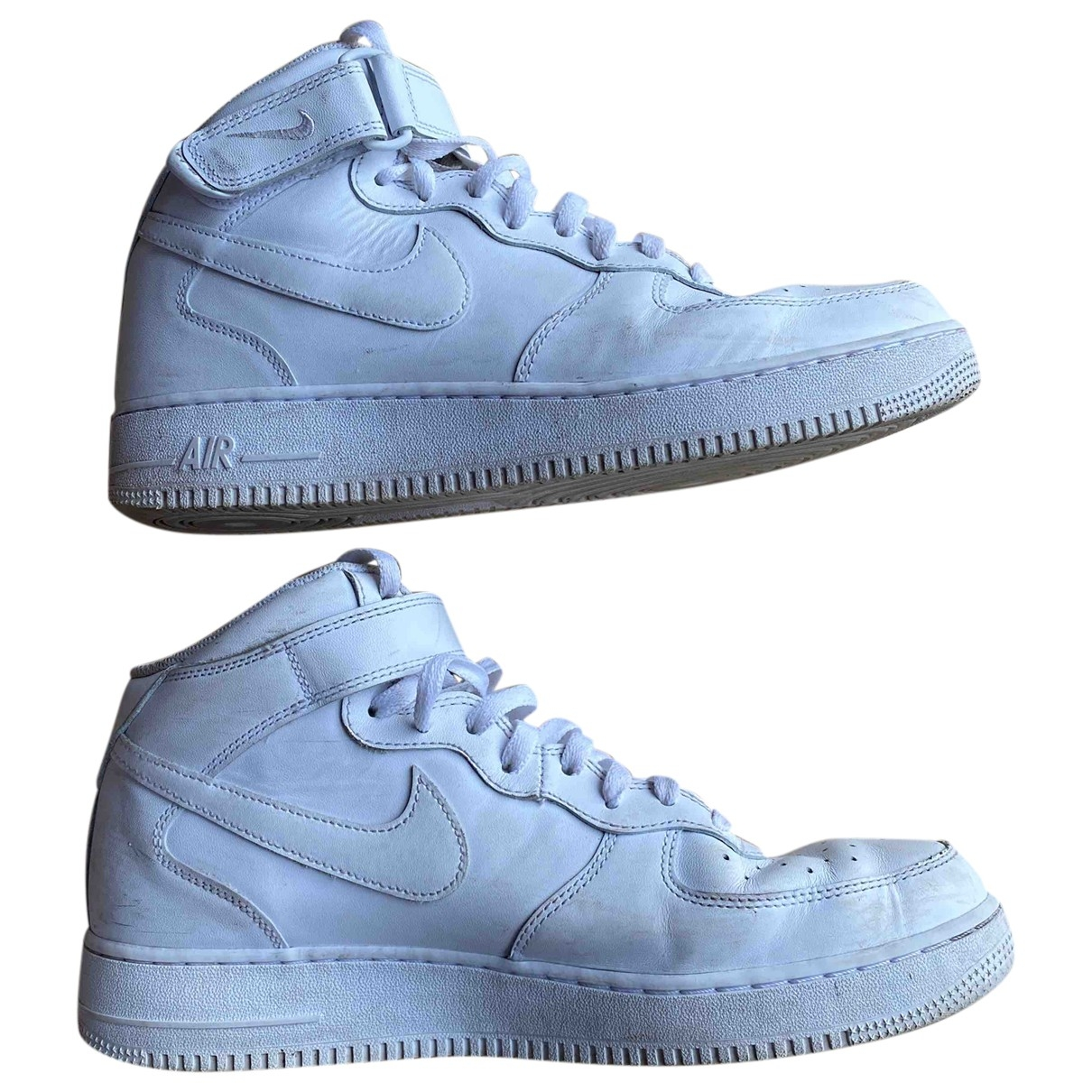 Nike Air Force 1 White Leather Trainers for Men 45 EU