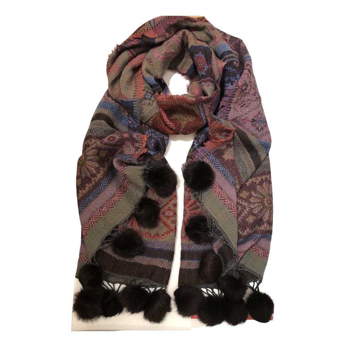 - Foulard   pour femme en laine - multicolore