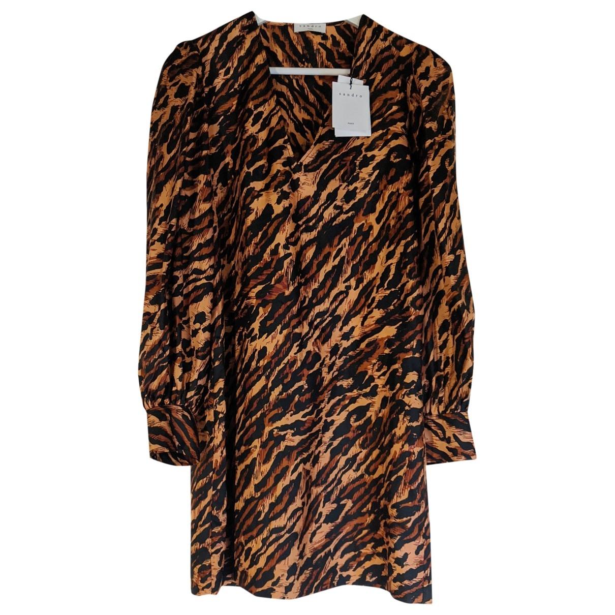 Sandro Fall Winter 2019 Silk dress for Women 38 FR