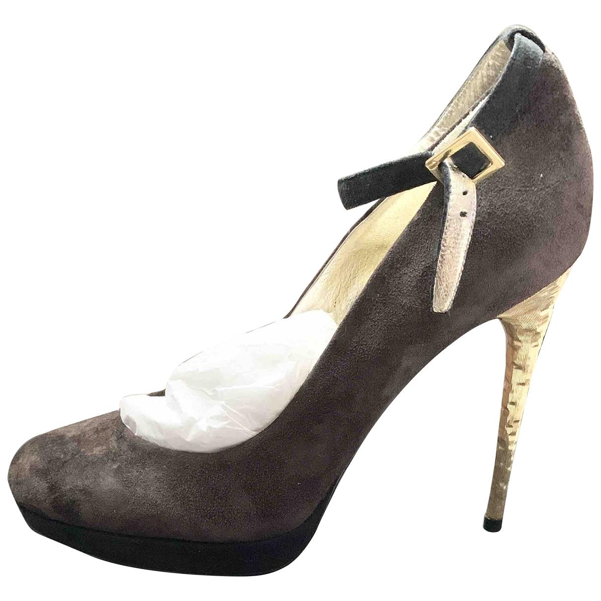 Dsquared2 \N Brown Suede Heels for Women 38 EU