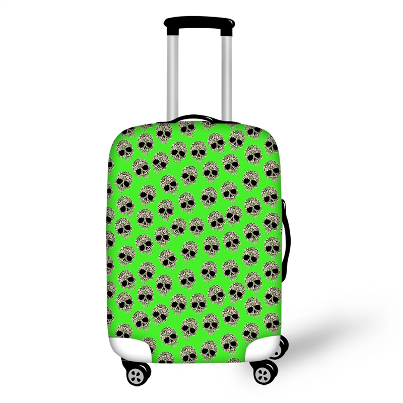Skull Pattern Cool Style Fashion Washable Waterproof Travel Zipper Nylon 3D Luggage Cover