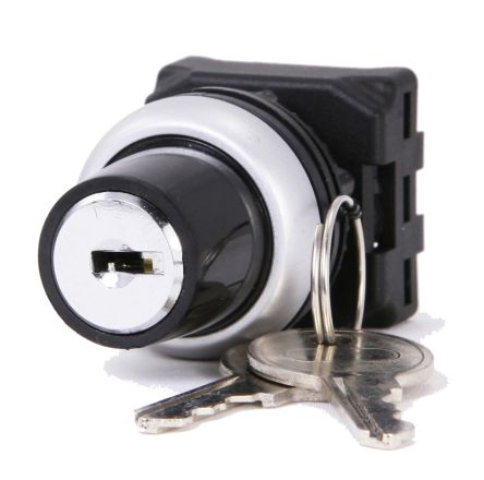 RS PRO Key Switch Head - 3 Position, Latching, 22mm cutout