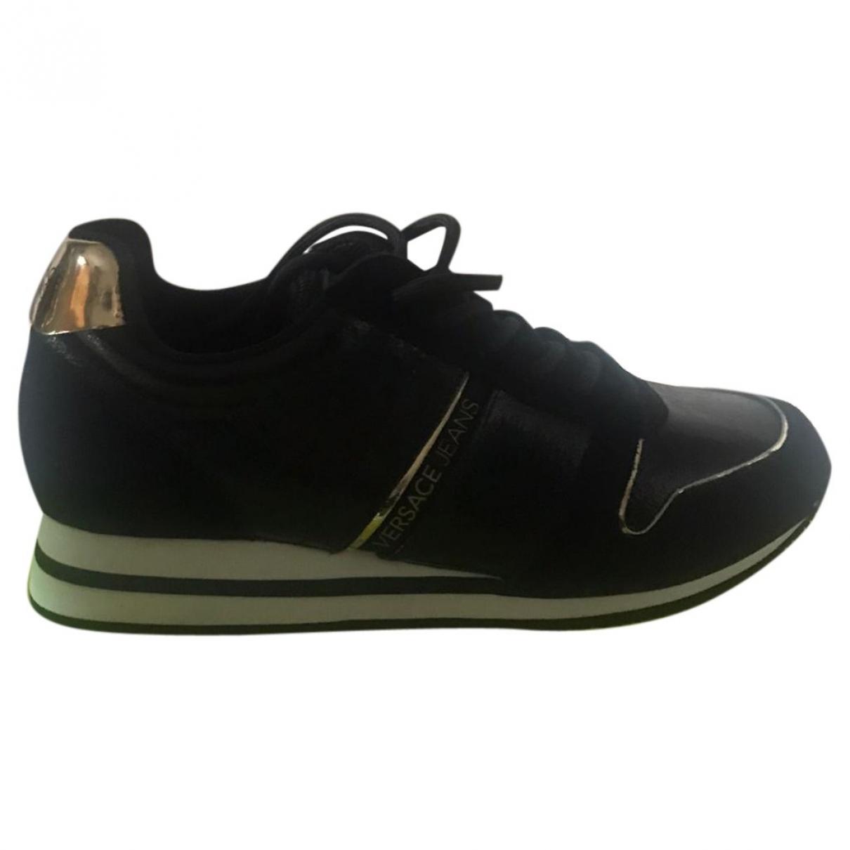 Versace Jean - Baskets   pour femme en cuir - noir