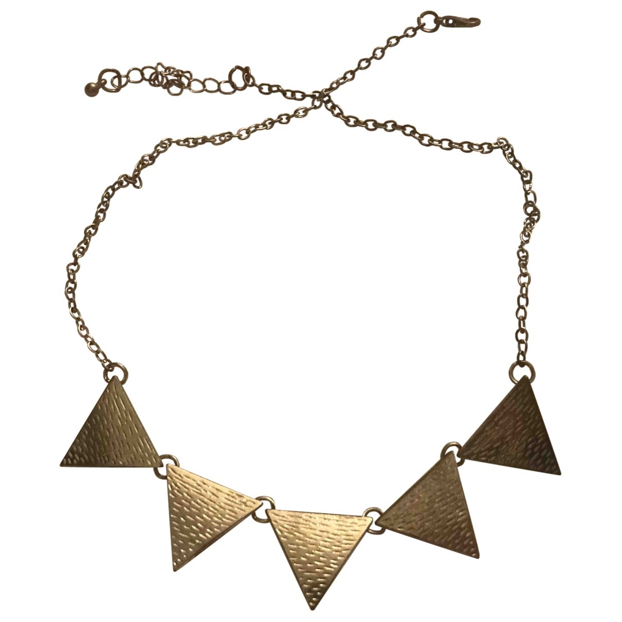 Non Signé / Unsigned Motifs Ethniques Gold Metal necklace for Women \N
