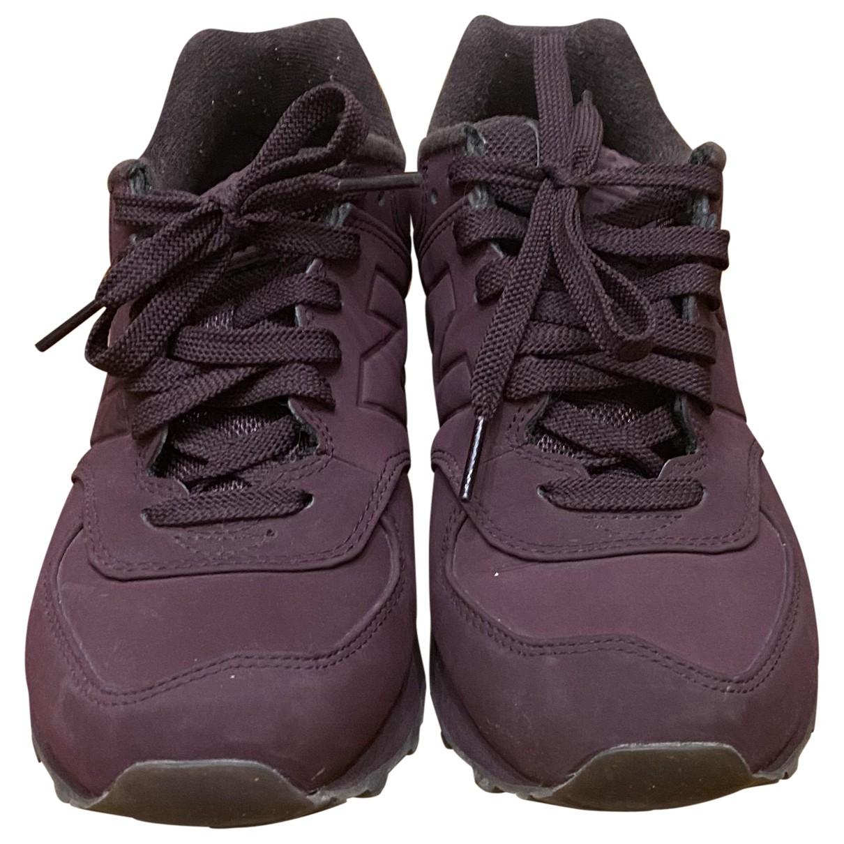 New Balance \N Sneakers in  Bordeauxrot Veloursleder