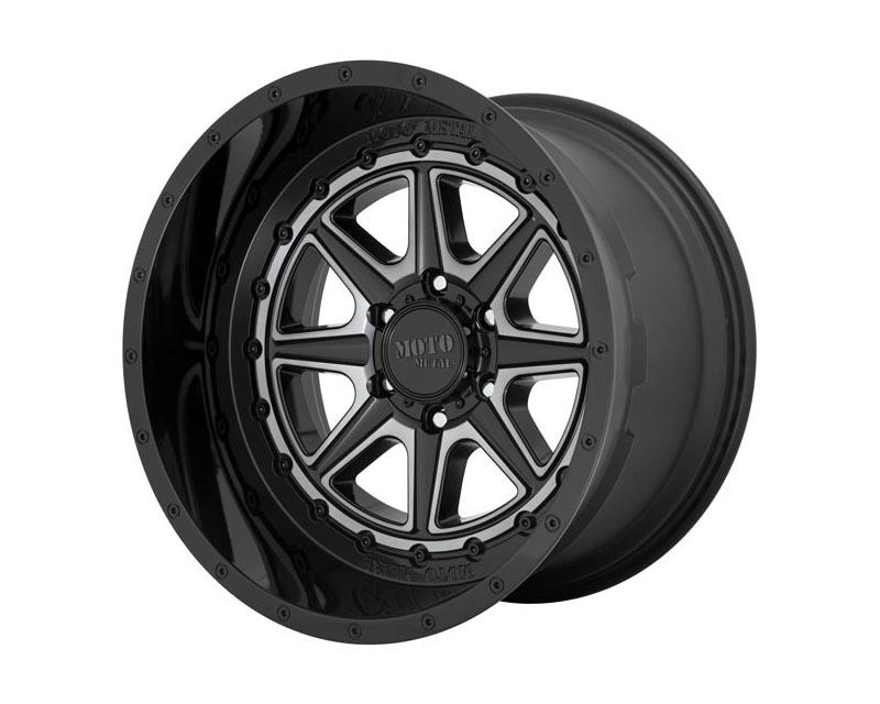 Moto Metal MO80124268444N Phantom Wheel 24x12 6X5.5 -44mm Gloss Black w/Gray Tint