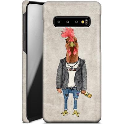 Samsung Galaxy S10 Smartphone Huelle - Punk Rooster von Barruf
