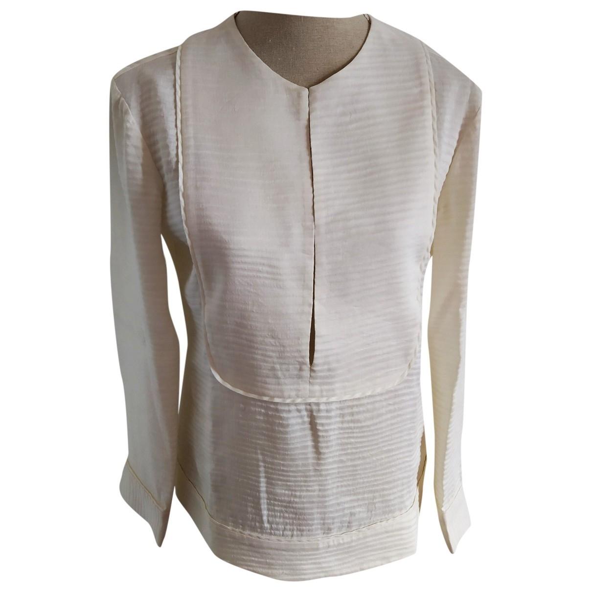 Armani Collezioni - Top   pour femme en coton - blanc
