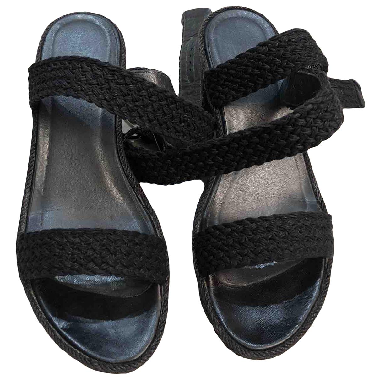 Stuart Weitzman \N Black Cloth Sandals for Women 38.5 EU