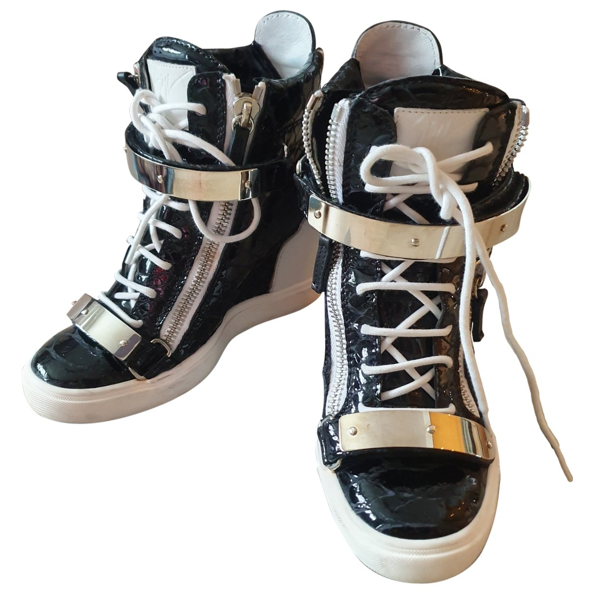 Giuseppe Zanotti \N Black Patent leather Trainers for Women 39 EU