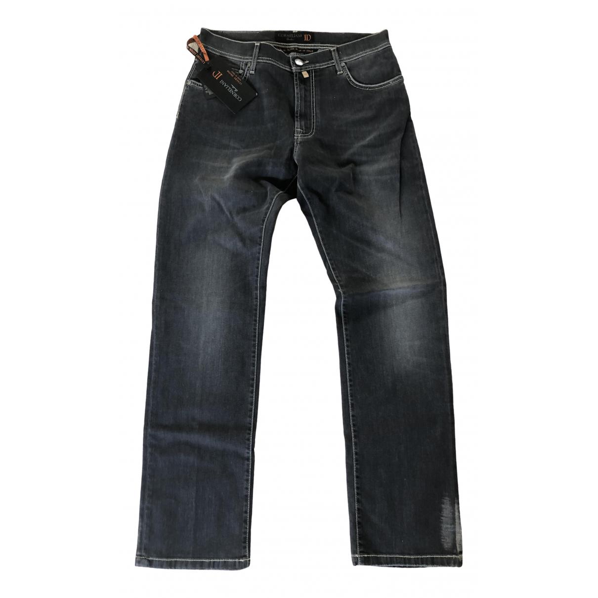 Pantalones en Denim - Vaquero Gris Corneliani