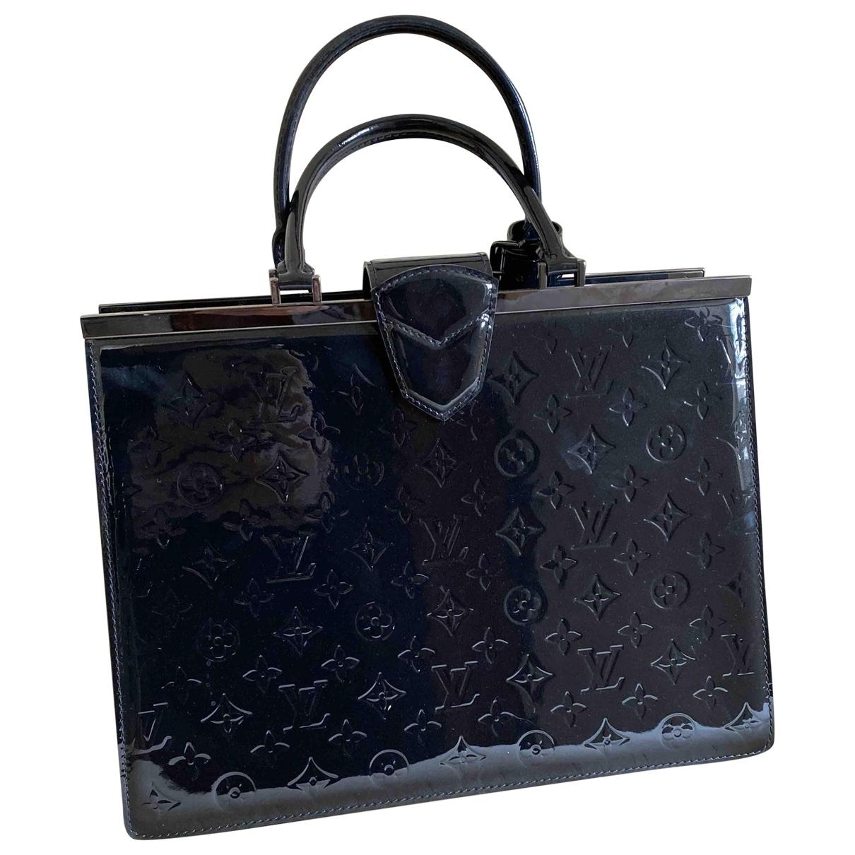 Louis Vuitton - Sac a main Deesse pour femme en cuir verni - noir