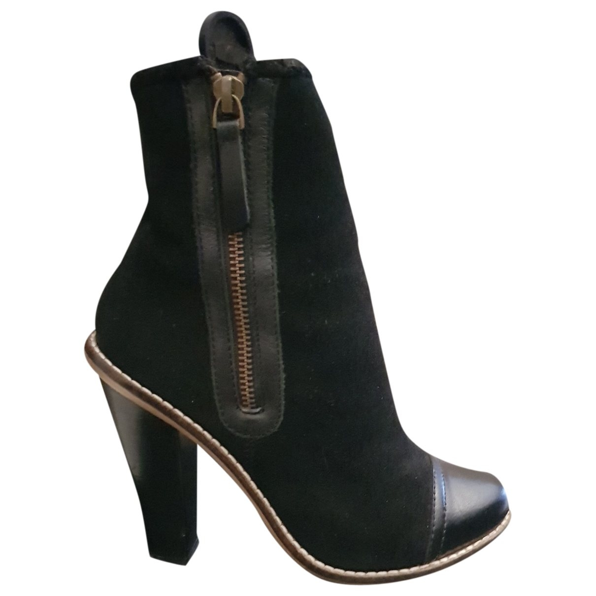 Mango \N Black Leather Boots for Women 36 EU