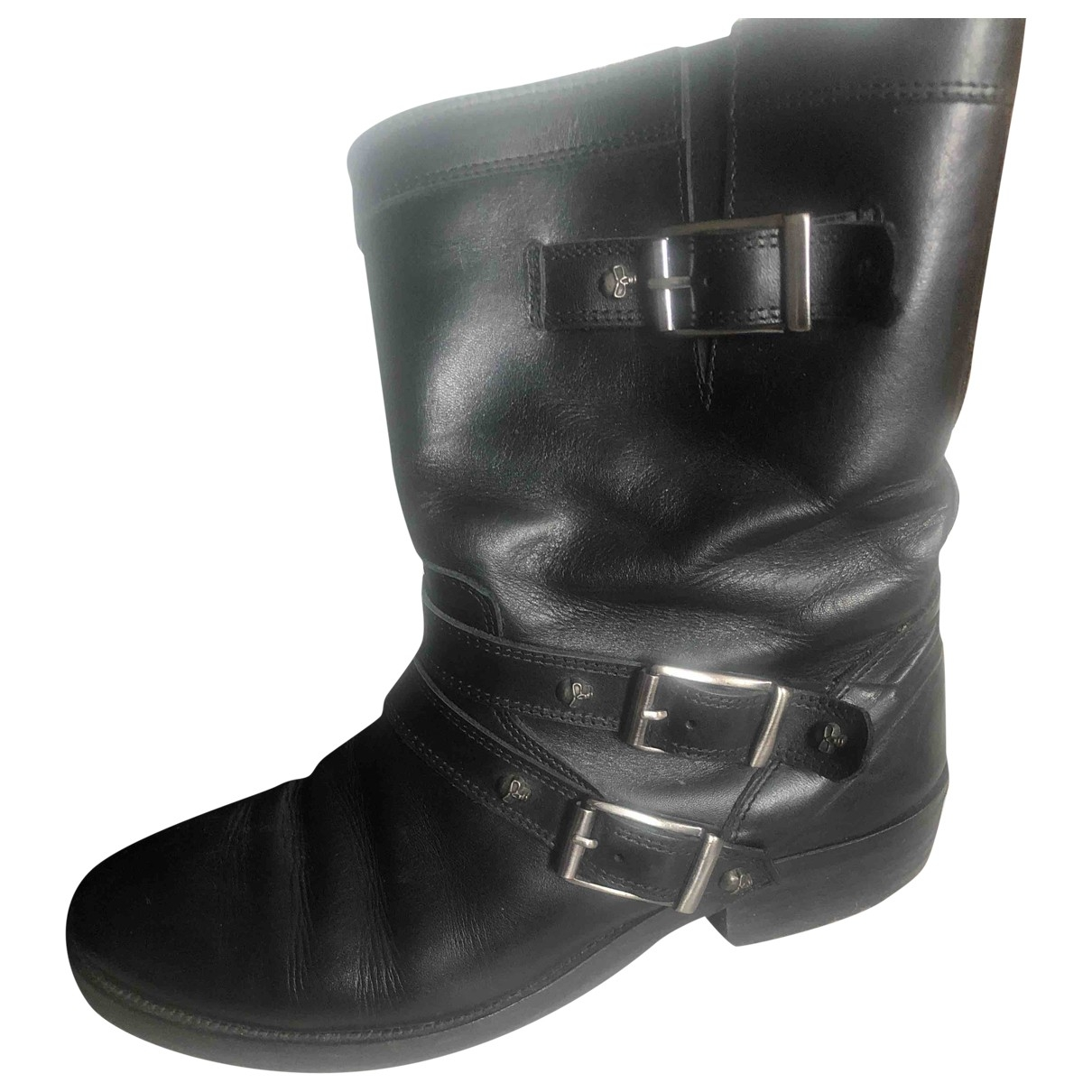 The Kooples \N Black Leather Ankle boots for Women 39 EU
