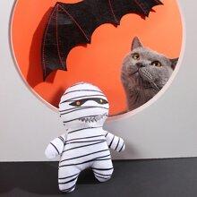 1 Stueck Klangspielzeug mit Halloween Mumie Design fuer Hunde