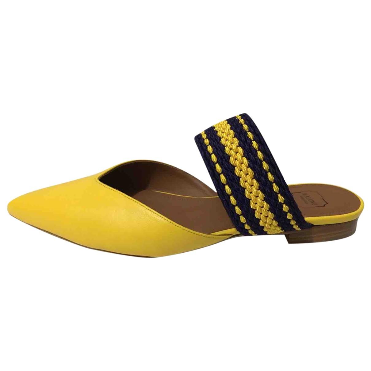 Malone Souliers \N Sandalen in  Gelb Leder