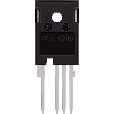 Wolfspeed SiC N-Channel MOSFET, 63 A, 900 V, 4-Pin TO-247  C3M0030090K (30)