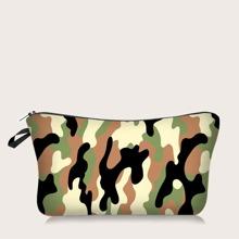 Makeup Tasche mit Camo Muster