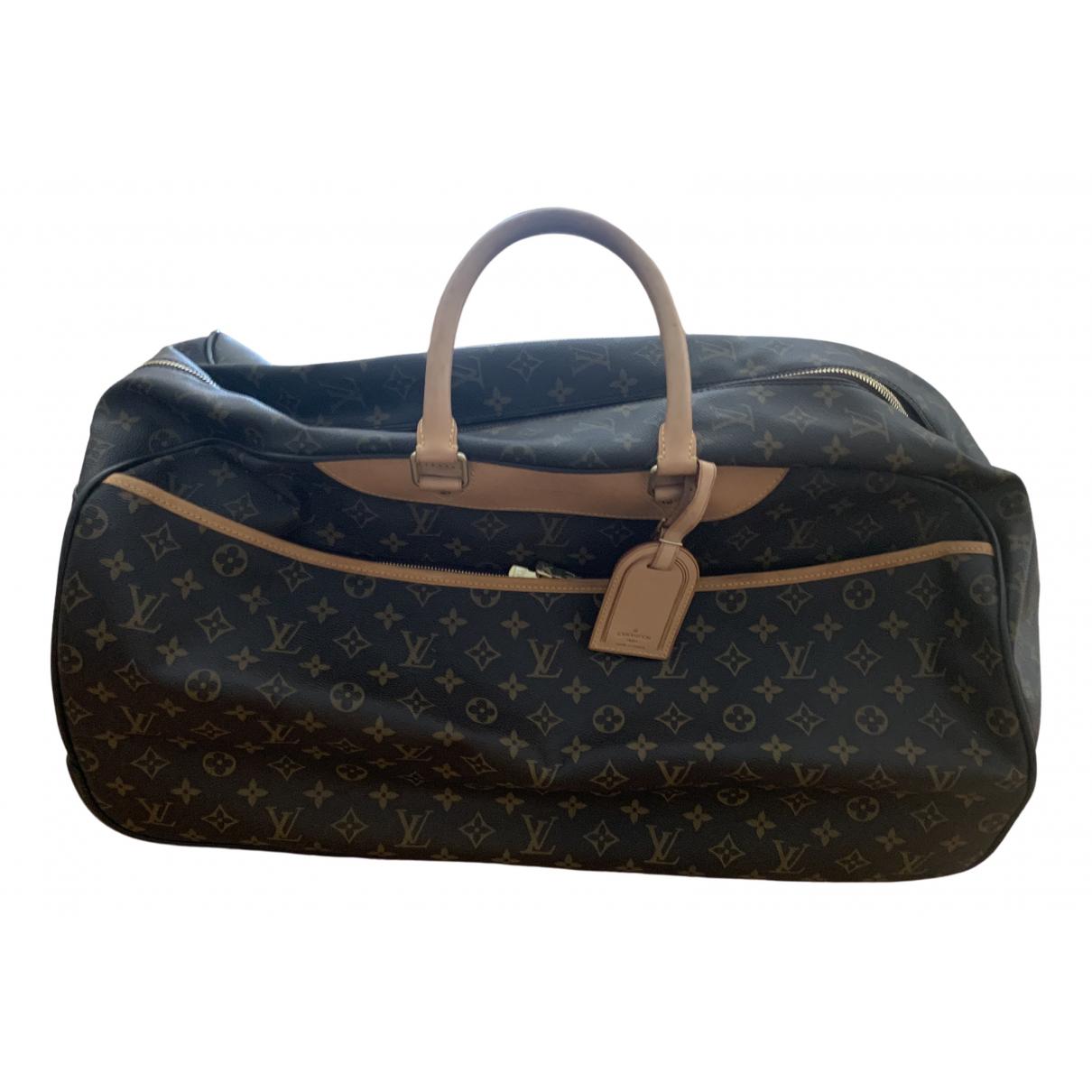 Louis Vuitton - Sac de voyage Eole pour femme en toile - marron