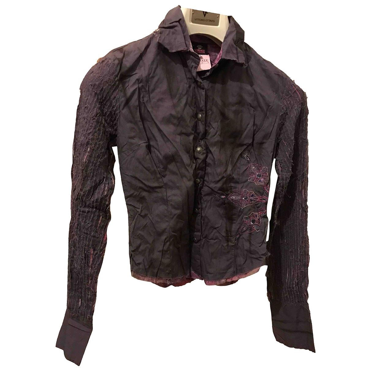 Versace Jeans \N Purple Cotton  top for Women 6 UK