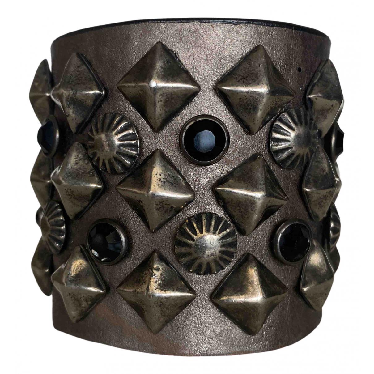 Ash - Bracelet   pour femme en cuir - gris