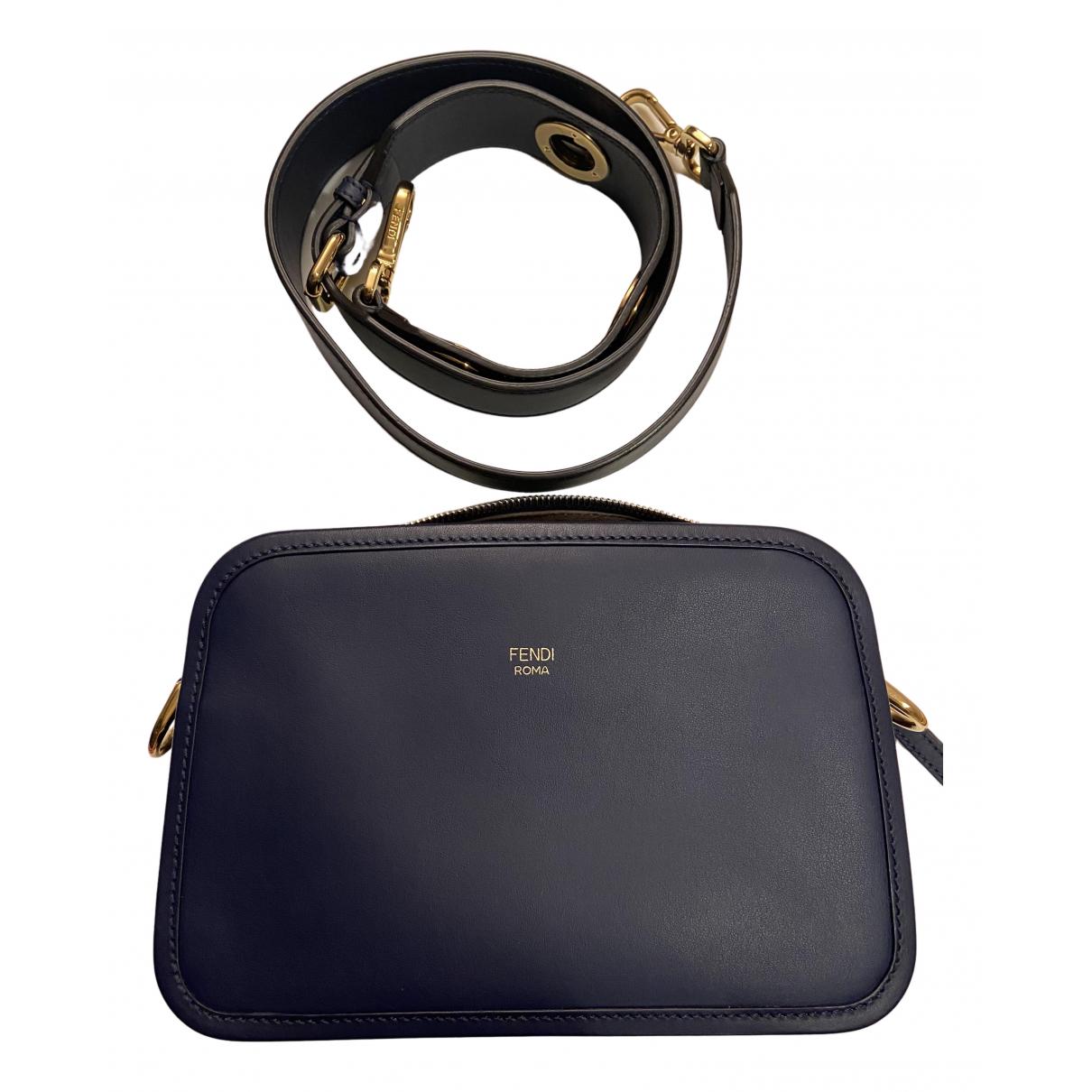 Fendi Camera case Blue Leather handbag for Women N