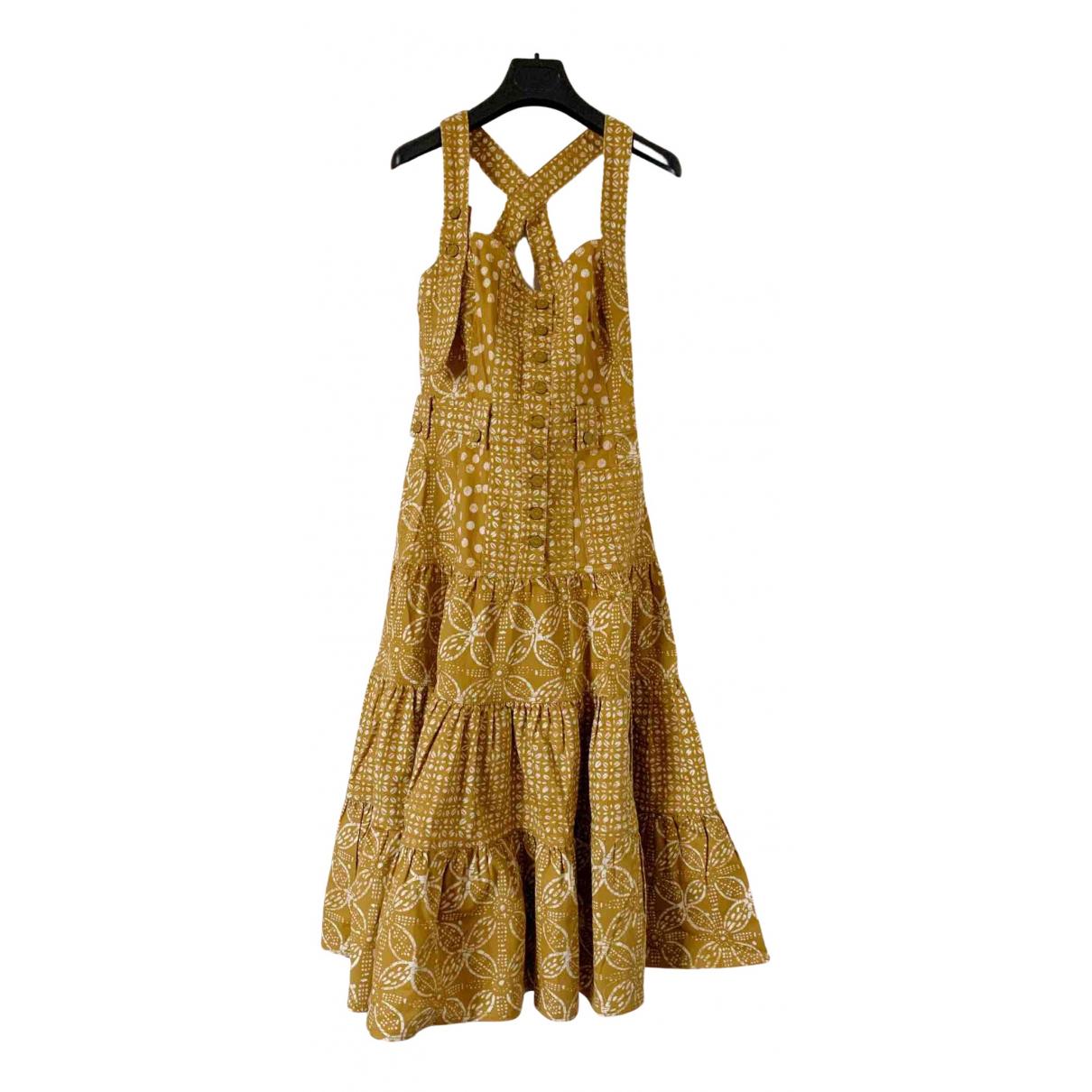 Ulla Johnson \N Kleid in  Gelb Baumwolle